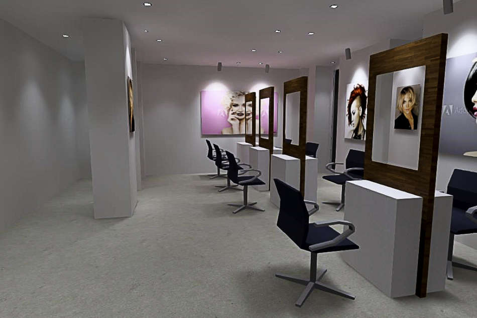 Eclairage ergonomique salon de coiffure